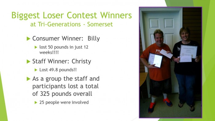 Biggest Loser Contest Winners