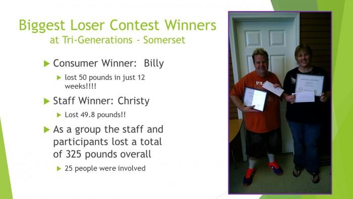 Biggest Loser Contest Winners