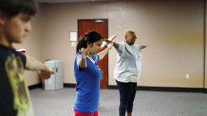 Participants Doing Interval Arm Circles