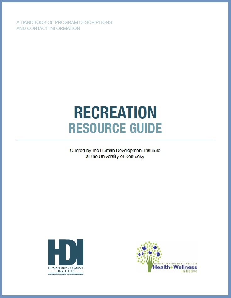 Screenshot of the Recreation Resource Guide Cover