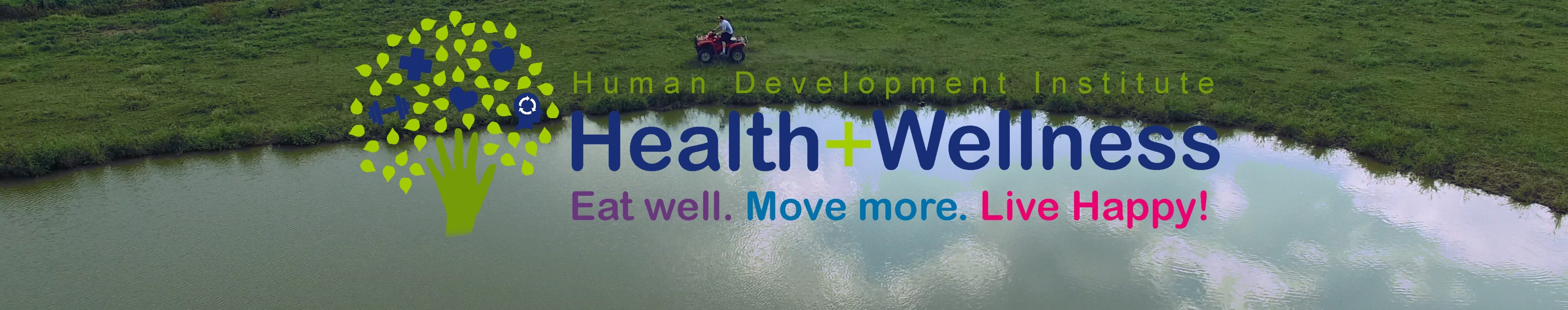 Health and Wellness header image with logo and pond