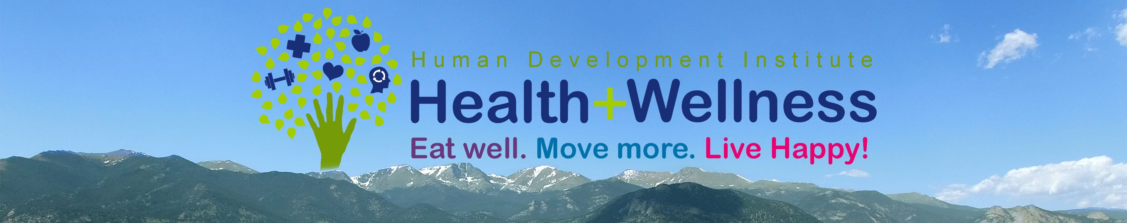 Health and Wellness header image with logo and mountains 2