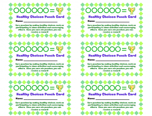 Healthy Choices Punch Card