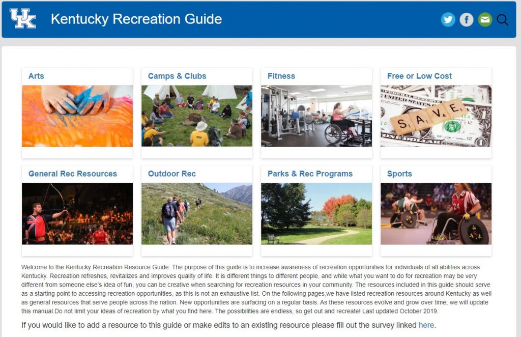 Image of Kentucky Recreation Resource Guide