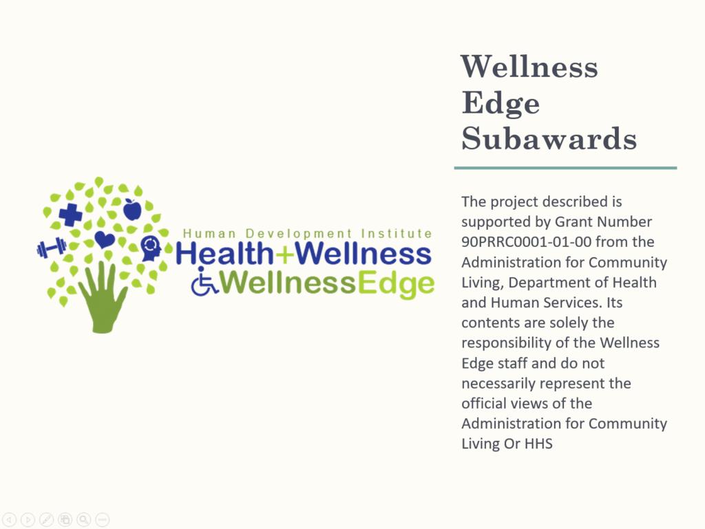 Wellness Edge Subawards